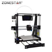 Zonestar 3D printer DIY kit Newest Arrival High Precision Easy Leveling Acrylic Frame Reprap Prusa i3 LCD Bowden Extruder