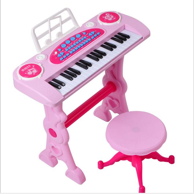 37-key électronique clavier joueur tambours 2 en 1 jouet Piano intérieur enfants jouets pour enfants jouet Instrument de musique apprentissage éducation - 5