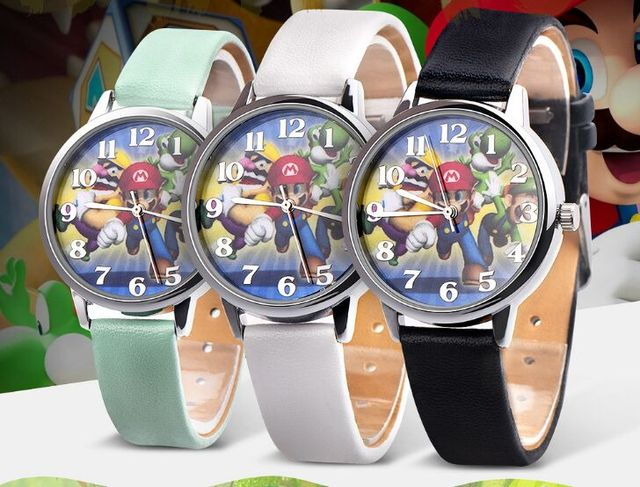 Wholesale 10pcs/lot Super Mario Cartoon Watch Quartz children kids student watch