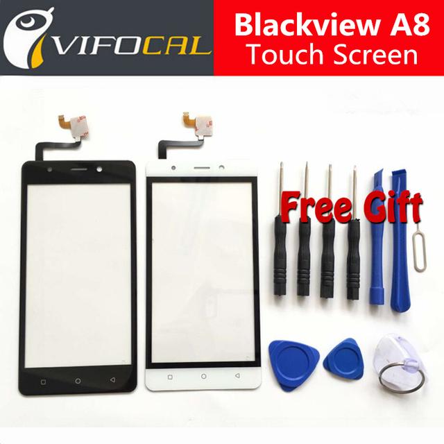 Blackview a8 pantalla táctil + herramientas set de regalo 100% original ensamblaje del panel de cristal digitalizador reemplazo para el teléfono celular
