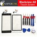 Blackview a8 tela de toque + ferramentas gift set 100% original painel de digitador de vidro substituição conjunto da tela para telefone celular