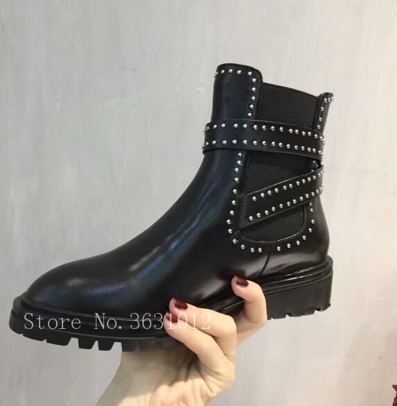 Martin Pic Punta Mujer Estrecha 2018 Charol Tacón Negro Botas Bloque Hebillas Pic De Tobillo Zapatos As Grueso as Para FnxEqPfOan