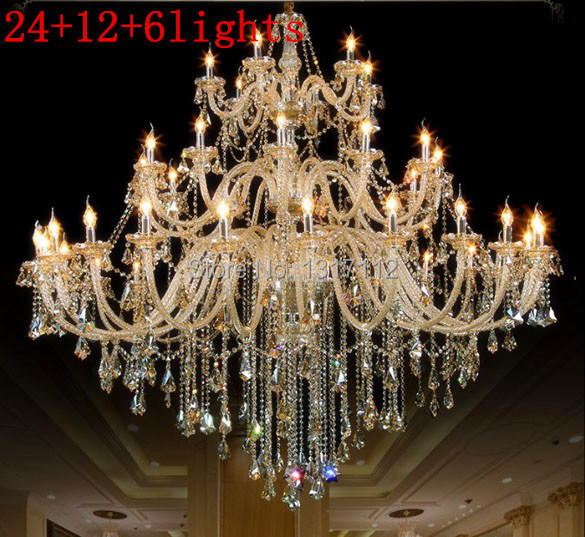 Beautiful candle crystal chandelier light large crystal chandeliers beautiful candle crystal chandelier light large crystal chandeliers hotels 30 lights w150cm h160cm and 42 lights w200cm h180cm in chandeliers from lights aloadofball Images