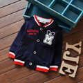 2016 primavera ropa de los niños/algodón bebé niño cardigan chaqueta de los muchachos de la chaqueta bordada de la historieta niños de la capa