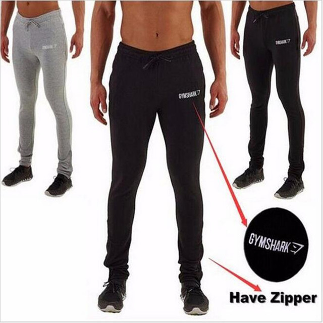 2016 New  Clothing Man Pants Casual Skinny Trousers Bodybuilding  Shark Pants Men  Joggers Cotton Elastic Sweatpants