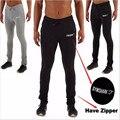 2016 Novo Homem Roupas Calças Skinny Casuais Calças Calças Dos Homens Corredores Algodão Sweatpants Elásticas Musculação Tubarão
