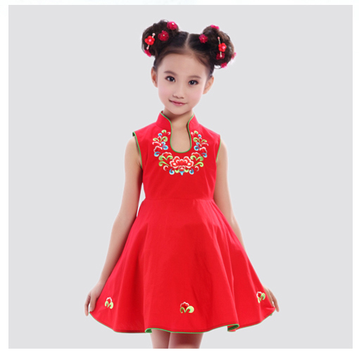 Discount kids cheongsam dress cotton chinese traditional kids qipao girl costume dress-in Dresses from Mother u0026 Kids on Aliexpress.com | Alibaba Group  sc 1 st  AliExpress.com & Discount kids cheongsam dress cotton chinese traditional kids qipao ...