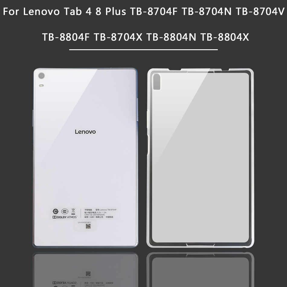 Klasik silikon kılıf için Lenovo Tab 3 4 8/8 artı P8 TB3-850F TB3-850M TB 8703F/8704F/8804F/8504F Tab 2 A8-50F/50LC Tablet kapağı