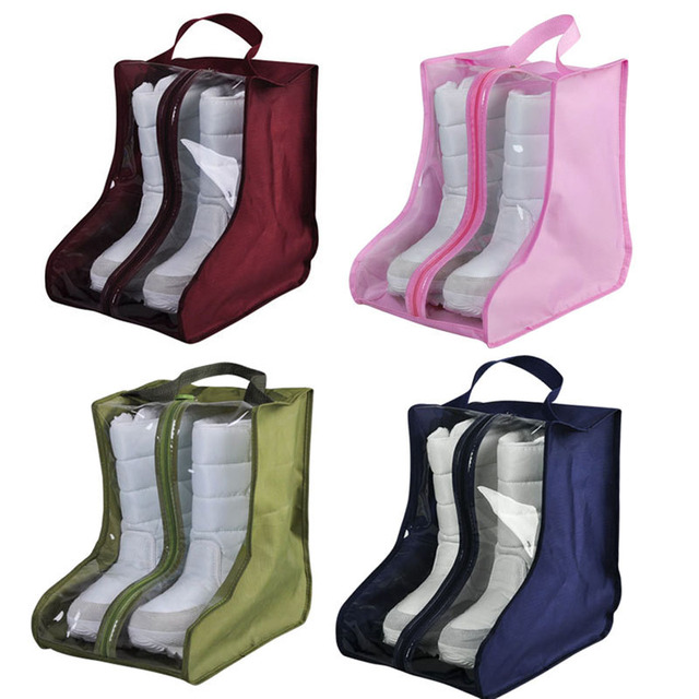 20*28*28cm PVC Boots Shoes Dustproof Bag Storage Pouch Shoes Protector Bag Home Supplies HG99