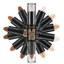QIC Brand 6Colors Face Foundation Creamy Camouflage Concealer Pen Facial Foundation Mineral Contour Concealer Stick