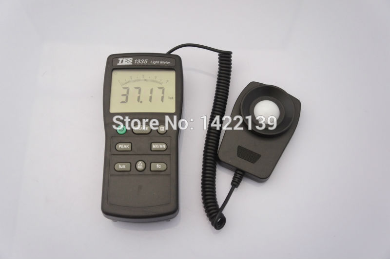 New TES TES-1335 Digital Light Meter - Ranging 0 to 400,000 Lux купить