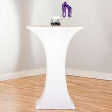 10Pcs Round Cocktail Table Cloth Based Stretch Lycra Dry Bar Spandex Table Cover Tablecloth Wedding Event Party Decoration(China)