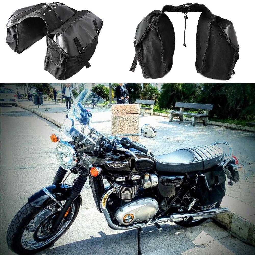 KEMiMOTO Motorcycle saddleBag Travel Knight Rider Black For Sportster XL883 XL1200 XL 883 1200 Motorcycle saddle bags sportster da viaggio