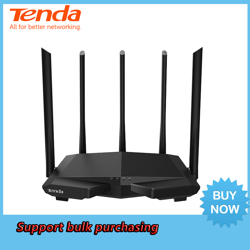 <font><b>Tenda</b></font> AC7 AC1200M Wireless WiFi Router with 2.4Ghz/5.0Ghz High Gain Antenna Home Coverage Dual Band Wifi Repeater,Easy Setup image