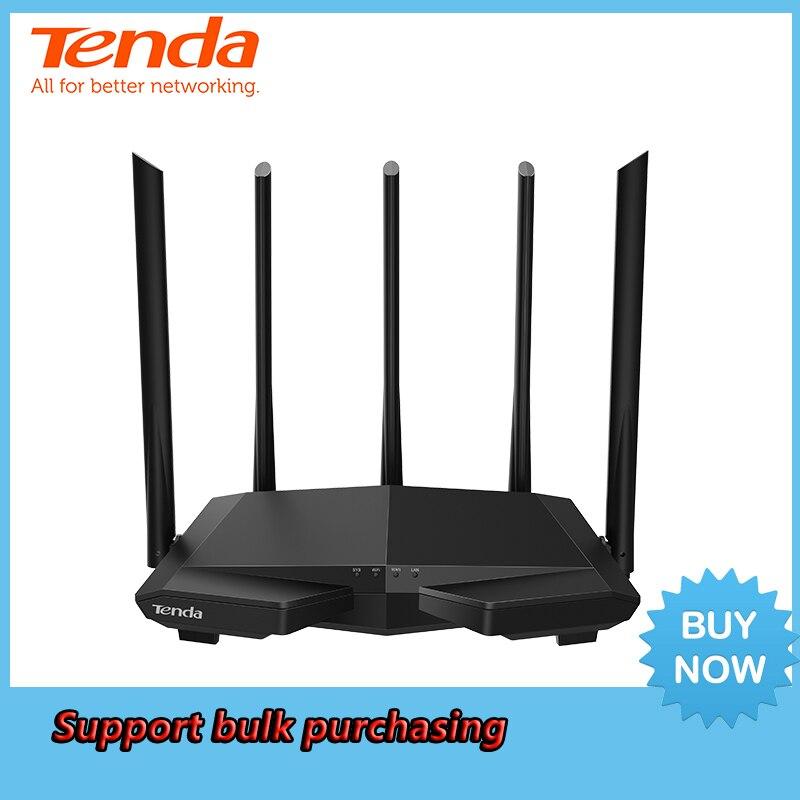 Tenda AC7 AC1200M Routeur Sans Fil WiFi avec 2.4 Ghz/5.0 Ghz Antenne À Gain Élevé Maison Couverture Bi-bande Répéteur Wifi, Installation Facile