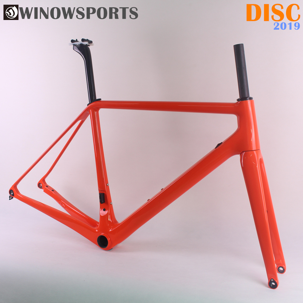 Winowsports New EPS Technology Light Weight Carbon Disc Frame 12*100mm Thru Axle 12*142mm Custom Painting Road Bike Disc Brake