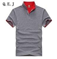 QEJ Hot Sale Fashion Solid V Neck Men S T Shirt 2017 Summer Short Sleeve Casual