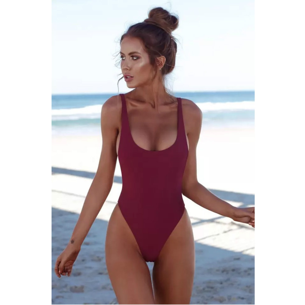 Hot Sale 2019 Women Bikini Swimwear One Piece Swimsuit Solid Female Set Backless Brazilian May Swimming