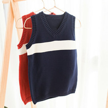 Funfeliz Kids Clothes Tops Spring Autumn baby Boy Vest Sweater Cotton Sweaters for Girls Knit Pullover Casual Children Sweaters boys and girls cartoon sweaters 2017 autumn winter new children knitting clothes baby casual cotton knit wear pullover tops 3 8y