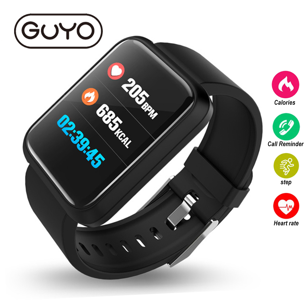GUYO Smart Watch Fitness Trackers Color Screen SmartWatch Smart Bracelet Bluetooth For Android IOS mens women