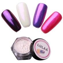 Lulaa 1 Box Pearl Shell Chameleon Mirror Nail Powder Glitters Diy Art Chrome Pigment Dust Manicure Decoration