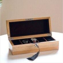 Роскошные оригинальные дубовые 5-сетка коробка вахты деревянный корпус часов подарочной коробке бренд коробка вахты коробка вахты древесины MSBH004a