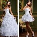 Lace Two 2 Piece Wedding Dress Ball Gown Sweetheart Organza Ruffle Wedding Gown Weeding Weding Dress Weddingdress