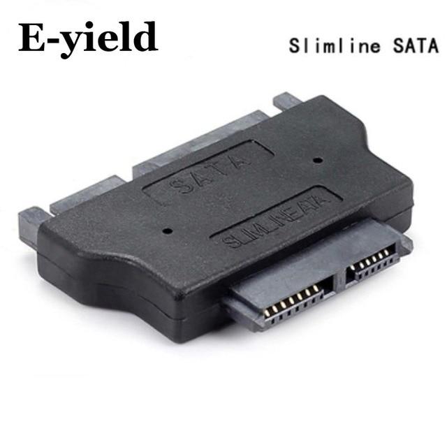 Slimline SATA Adapter Serial ATA 7+15 22pin Male to Slim 7+6 13pin Female Adapter