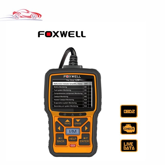 Free Update Foxwell NT301 CAN OBDII/EOBD Code Reader Diagnostic Scan Tool Multi-system Scanner for all OBD2 Compliant Cars