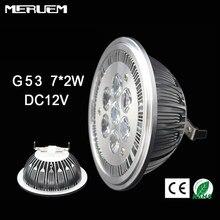 Lampe LED 14W G53 ES111 QR111 AR111, projecteur blanc chaud/blanc naturel/blanc froid, entrée DC12V, 10 pièces/lot, livraison gratuite