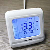 Programmable Thermostat Room Underfloor Heating System Temperature Controller LCD Touch Screen With White Blue Green Backlight