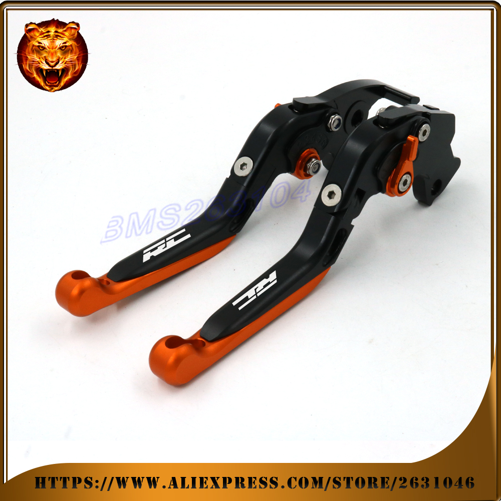 Adjustable Folding Extendable Brake Clutch Lever For KTM RC RC125 RC200 RC390 125 200 390 14-15 LOGO Free shipping Motorcycle