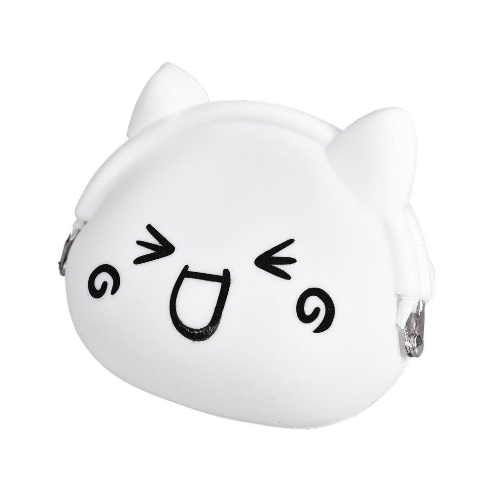 2016 Cute Emoji Silicone Novelty Hasp Kawaii Children Cartoon Bag Women Wallets Mini Change Plush Coin