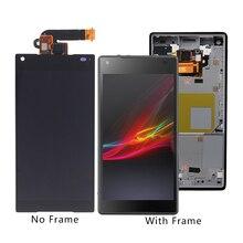Adecuado para Sony Xperia Z5 original pequeño Digitalizador de pantalla táctil LCD para Sony Z5 mini E5823 E5803 pantalla con marco