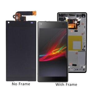 Image 1 - Adecuado para Sony Xperia Z5 original pequeño Digitalizador de pantalla táctil LCD para Sony Z5 mini E5823 E5803 pantalla con marco