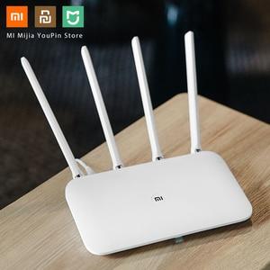 Image 4 - Oryginalny Xiaomi Mi Router WiFi 4 WiFi Repeater APP sterowania 2.4G 5GHz 128MB DDR3 1200 dwuzakresowy dwurdzeniowy 880MHz Router bezprzewodowy