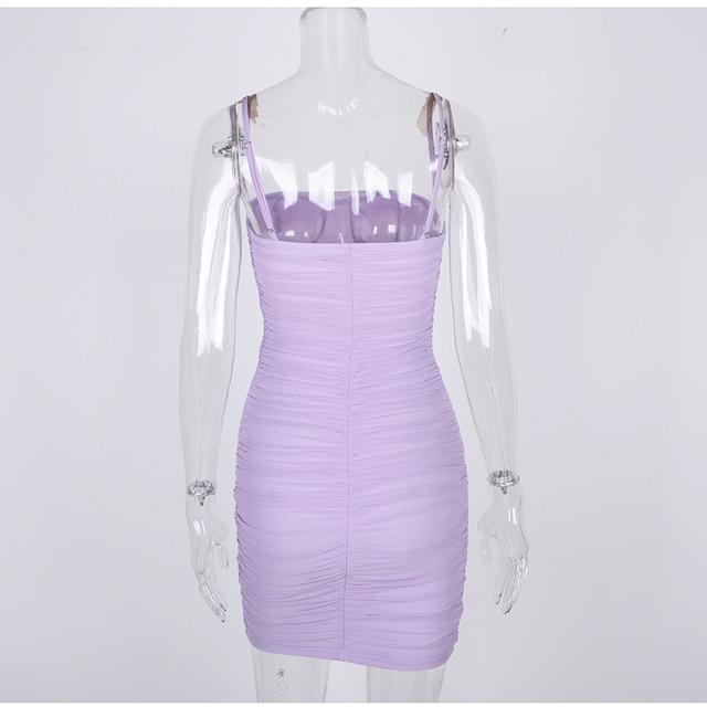 Colysmo Double Layers Summer Dress 2020 Women Spaghetti Straps Mini Dress Sexy Mesh Beach Dresses Woman Party Night Club Dress 5