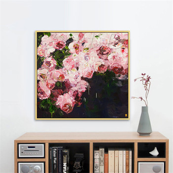 Hand Painted Oil Painting  Flower Canvas wall art canvas Pictures for living room home decor cuadros decoracion 4