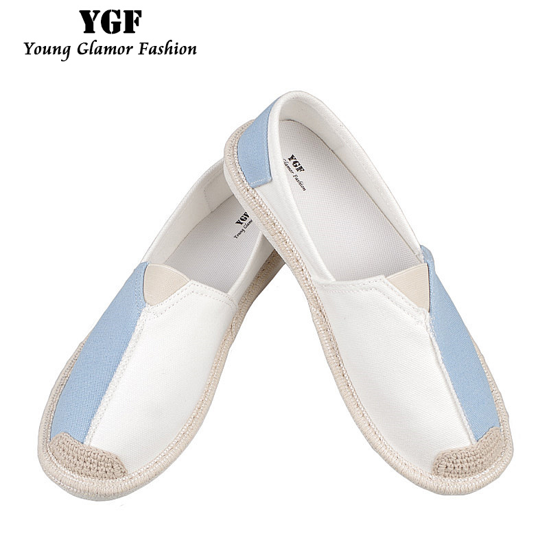 YGF 2017 Women Canvas Shoes Summer Slip on Flats Shoes 2017 Spring Soft Loafers Espadrille Canvas Women Casual Shoes Mixed Color vintage embroidery women flats chinese floral canvas embroidered shoes national old beijing cloth single dance soft flats