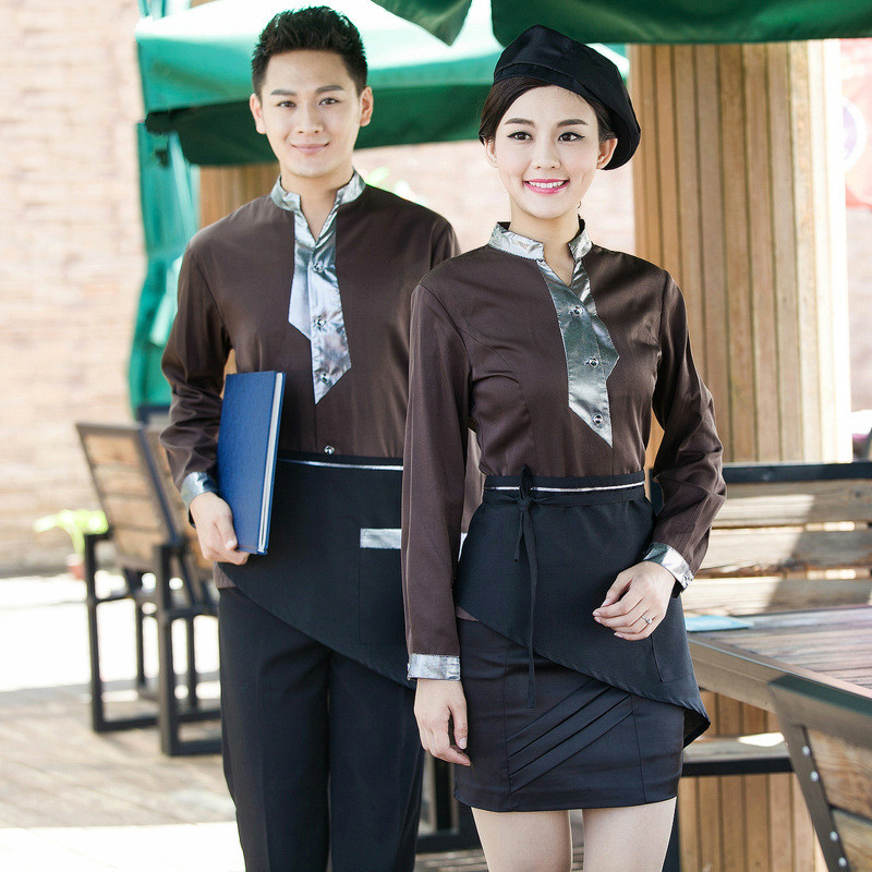 Hotel Server Uniform Autumn Winter Long Sleeve Female