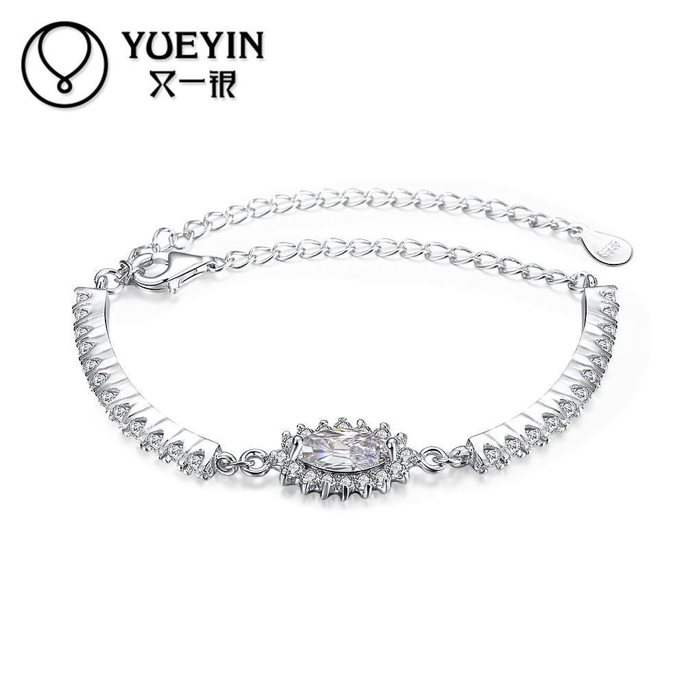 Free Shipping 925 Sterling Silver Bracelets For Women Girls Gift Fashion  Lovely S925 Jewelry High Quality