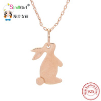 Animal Necklaces Pendants 925 Silver Jewelry Accessories For Women Rabbit Pendant Chain Necklace Woman Collier Hot