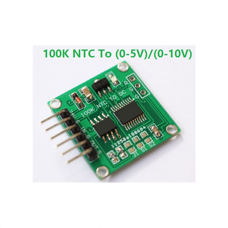 NTC thermistor turn voltage 100K NTC turn 0-5V 0-10V linear conversion temperature transmitter moduleNTC thermistor turn voltage 100K NTC turn 0-5V 0-10V linear conversion temperature transmitter module