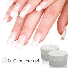 Mro 15ml uv builder gel nail polish manicure set gel varnish with lamp unhas de profissional transparent gel of nail artificial