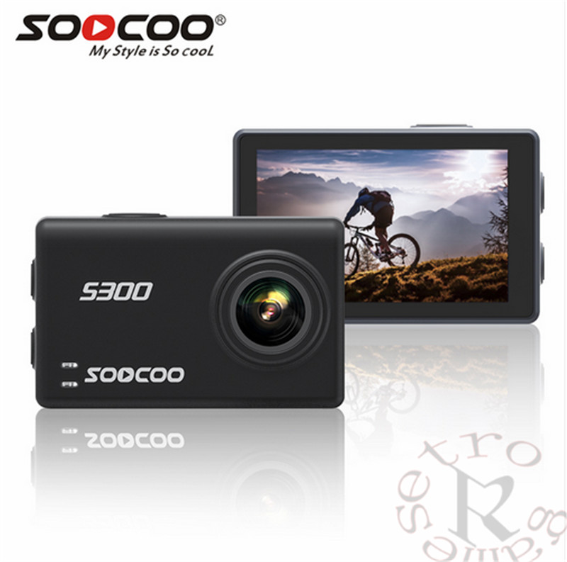 SOOCOO S200 Voice Control Wifi 4K Action Camera 2.45 Touch Screen with Gyro Remote, GPS Extension include GPS MIC