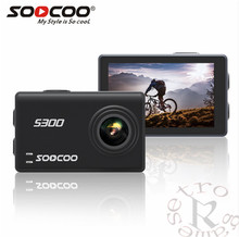 SOOCOO S200 Voice Control Wifi 4 k Action Camera 2.45 Tela Sensível Ao Toque com Giroscópio Remoto, GPS de Extensão incluem GPS MIC