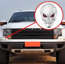 Metal 3D Skull Car  Logo Emblem Badge Truck Auto Motor Car Styling Sticker