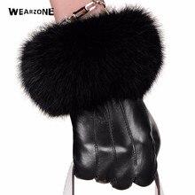 Зимние черные варежки из овчины, кожаные перчатки для женщин, кроличий мех, на запястье, овчина, перчатки, черные теплые женские перчатки для вождения