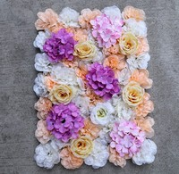 3D Artificial Silk Rose Flower Wall Decoration Party Decorative Silk Hydrangea Wedding Decoration Backdrop 40X60cm