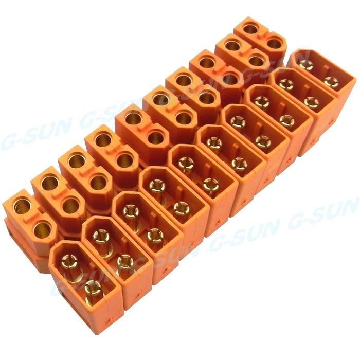 XT60 10 пар мужской женский пули Разъемы Вилки для RC LiPo батареи